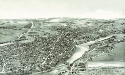 Beautifully restored map of Waterville, Maine from 1895