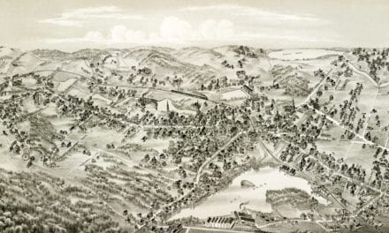 Beautifully restored map of Arlington, Massachusetts from 1884