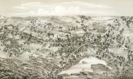 Beautifully restored map of Arlington, Massachusetts from 1884