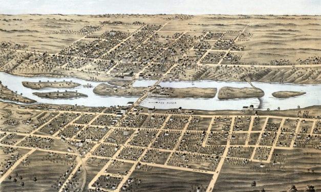 Historic old map of Batavia, Illinois from 1869