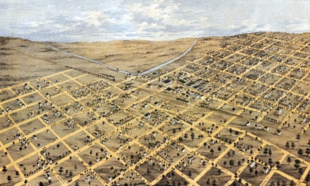 Beautifully restored map of Brodhead, Wisconsin from 1871