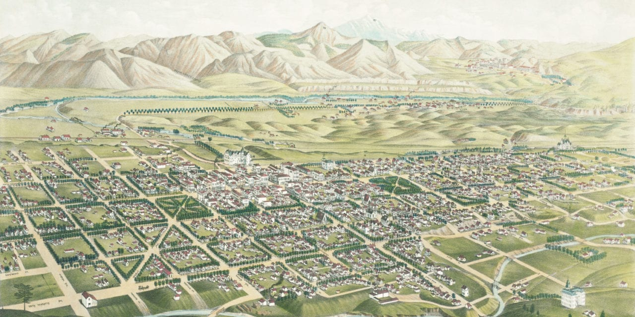 Beautifully restored map of Colorado Springs, CO in 1882