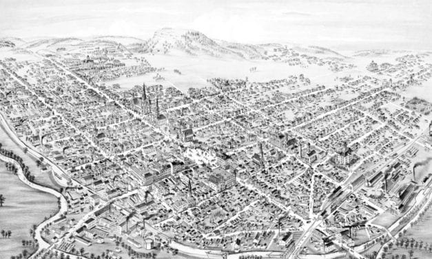 Beautifully restored map of Lancaster, Ohio from 1885
