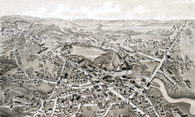 Beautifully restored map of Methuen, MA from 1882