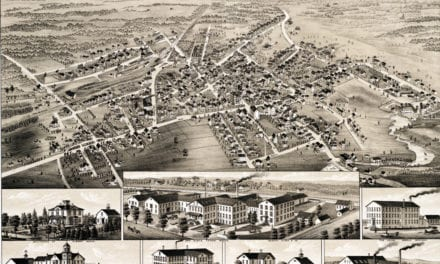 Historic map of Middleboro, MA from 1881