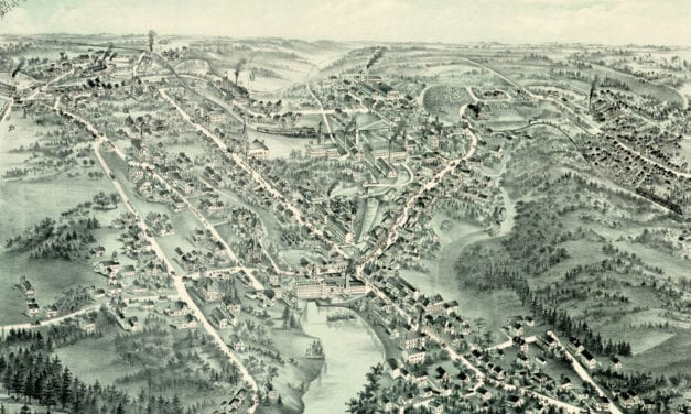 Beautifully restored map of Pascoag, Rhode Island from 1895