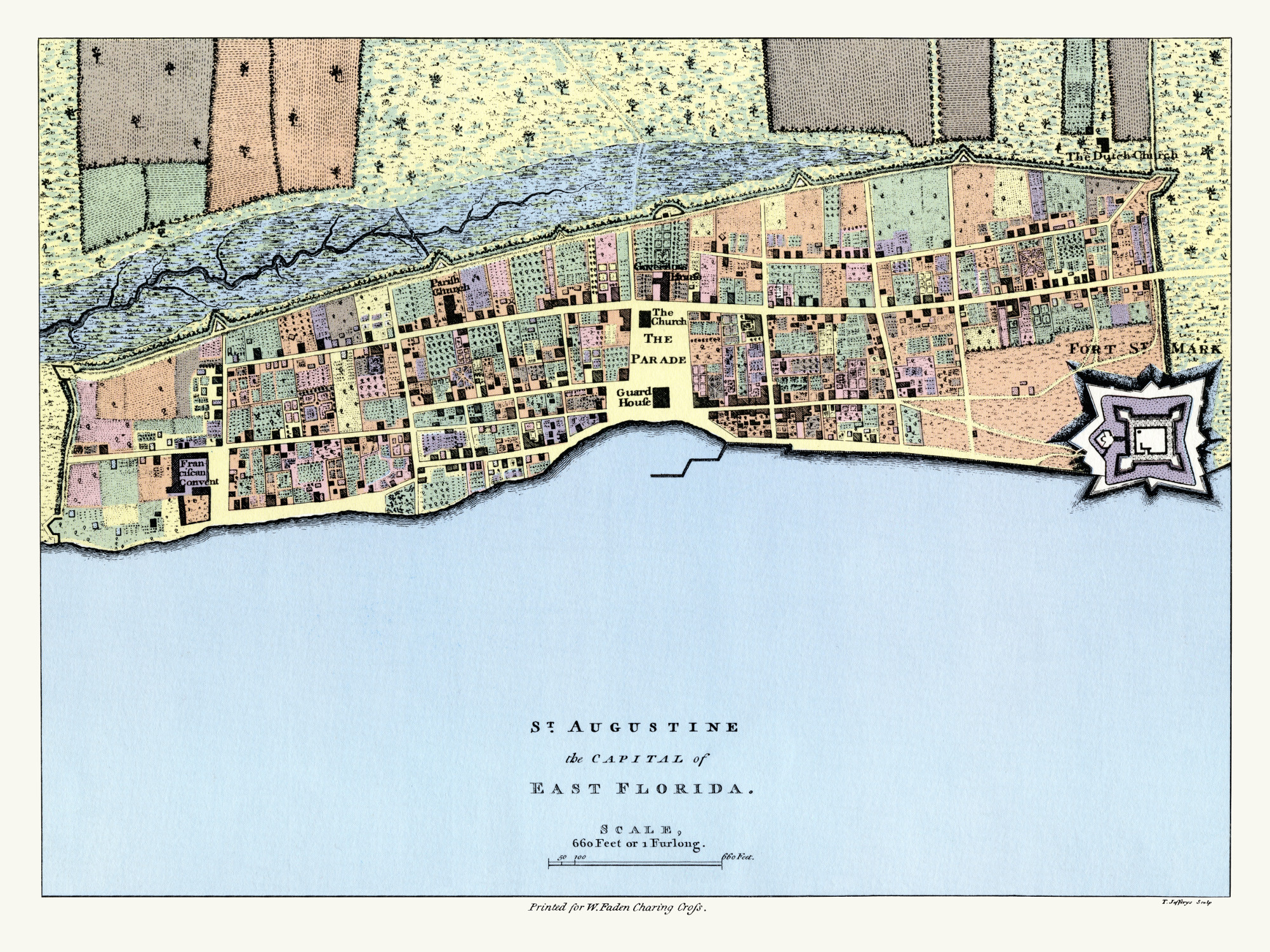 Map Of St Augustine Florida.1769 Map Of St Augustine East Florida Usa Papertowns
