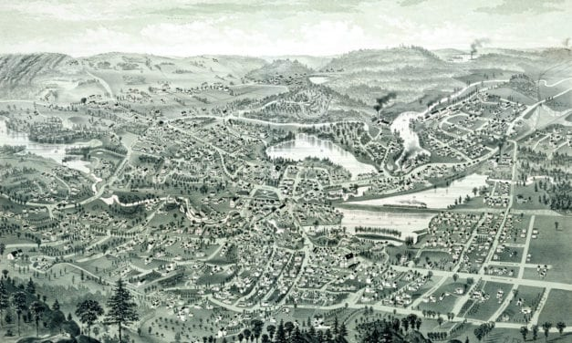 Historic old map of Winchester, MA from 1886