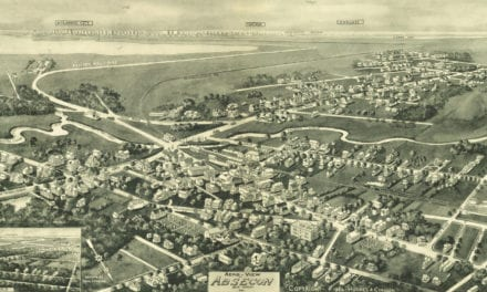Beautifully restored map of Absecon, New Jersey in 1924