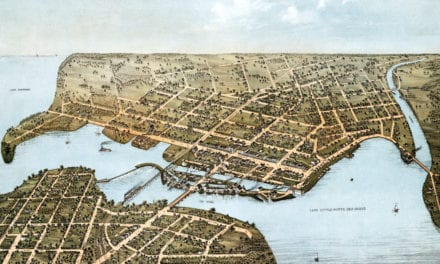 Beautifully restored map of Neenah, WI from 1879