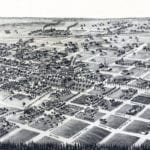 Beautifully restored map of Quitman, GA from 1885