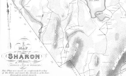 Historic map of Sharon, Massachusetts from 1831
