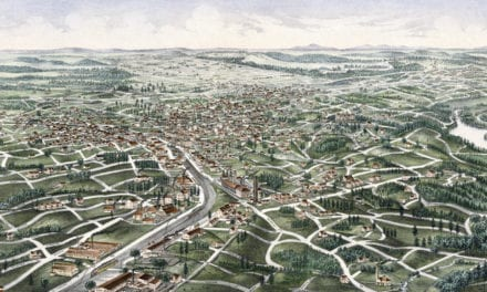 Beautiful bird's eye view map of Tallapoosa, Georgia from 1892
