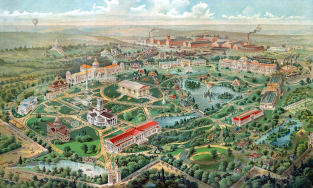 Beautifully detailed map of the Tennessee World's Fair, 1897