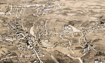Beautifully restored map of Uxbridge, Massachusetts from 1880