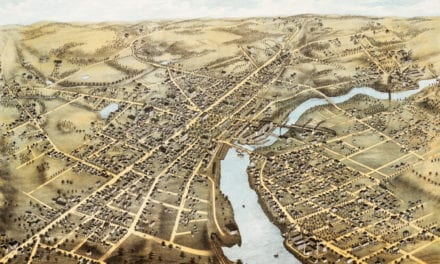 Beautiful old map of Waltham, Massachusetts from 1877
