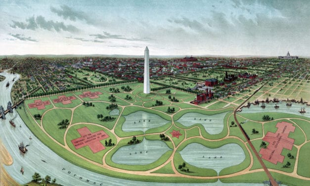 Historic map of Washington D.C.'s proposed World's Fair of 1892