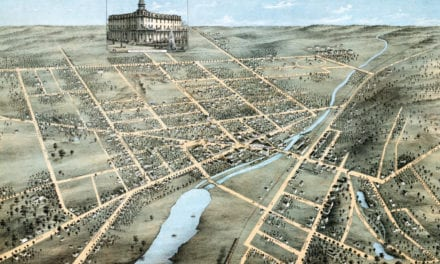 Beautifully restored map of Waukesha, Wisconsin from 1874