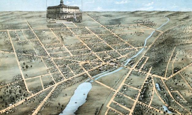 Beautifully restored map of Waukesha, Wisconsin from 1874