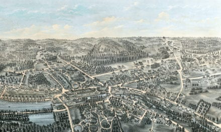 Beautifully detailed map of Whitinsville, Massachusetts from 1879