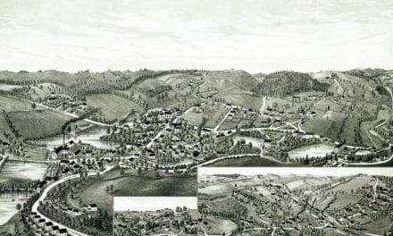 Beautifully restored map of Charlton, MA in 1887