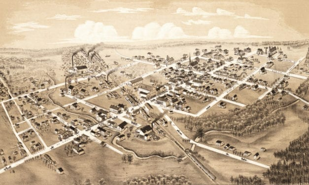 Beautifully detailed map of Clare, Michigan from 1884
