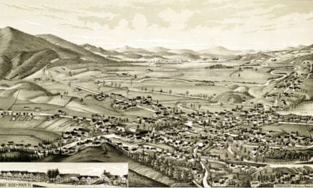 Beautifully detailed map of Colebrook, NH in 1887