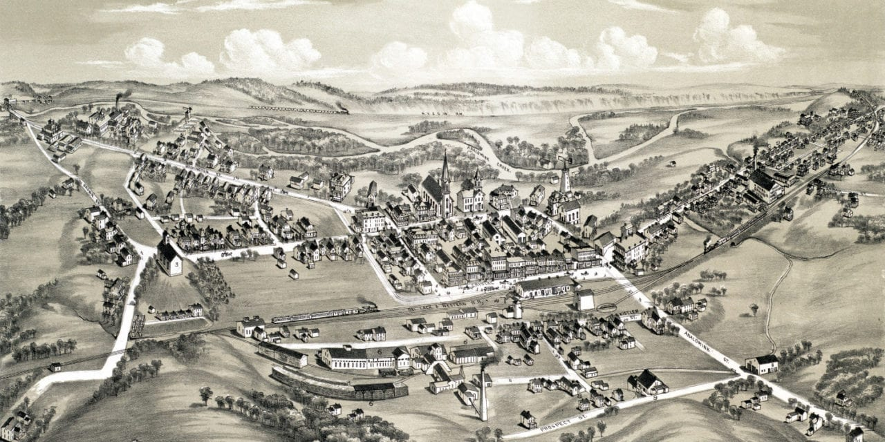 Historic old map of East Stroudsburg, PA from 1884