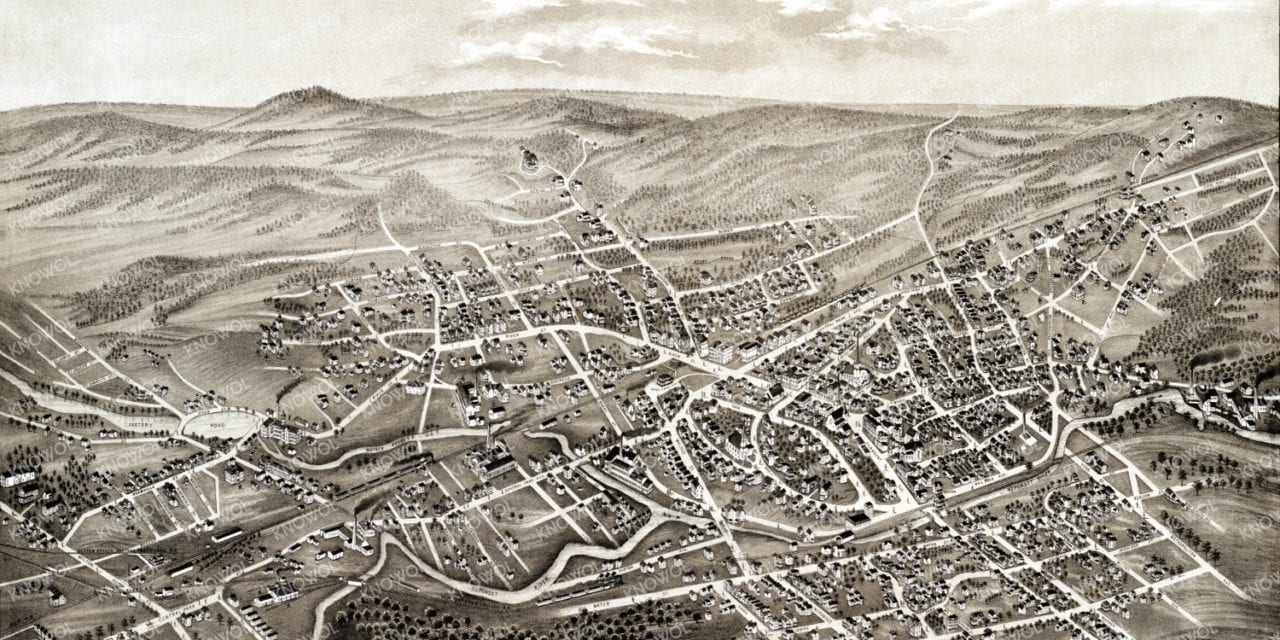 Beautifully detailed map of Hyde Park, Massachusetts from 1879