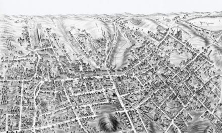 Beautifully restored map of Marlborough, MA from 1878