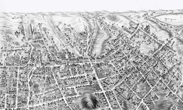 Beautifully restored map of Marlborough, MA from 1878