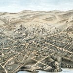 Beautifully restored map of Natick, Massachusetts from 1877