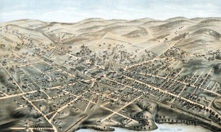 Beautifully restored map of Natick, Massachusetts from 1877