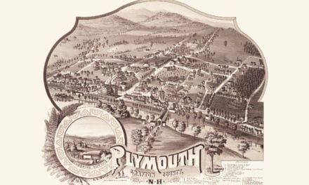 Beautifully detailed map of Plymouth, NH from 1883