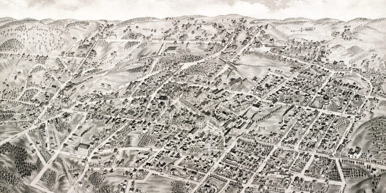 Beautifully detailed map of Stoneham, MA from 1878