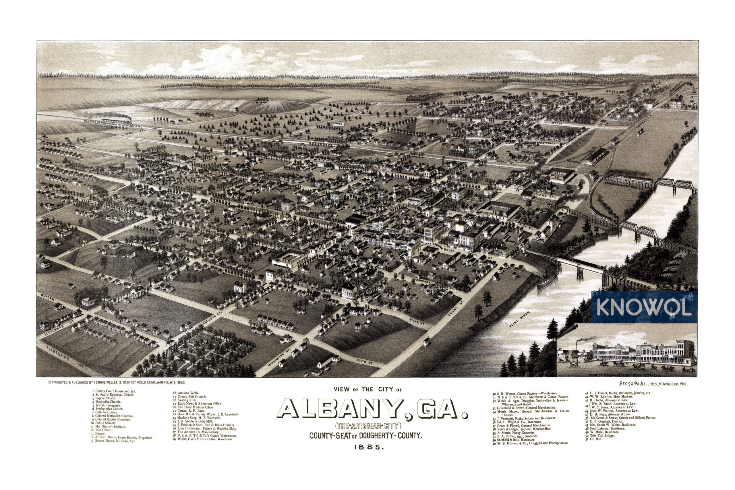 Map Of Quitman Ga.Beautifully Restored Map Of Albany Georgia From 1885 Knowol