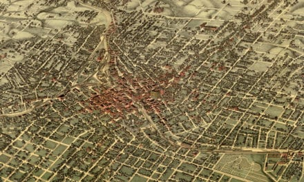 Beautifully detailed map of Atlanta, Georgia from 1892