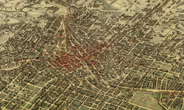 Beautifully detailed map of Atlanta, Georgia from 1892