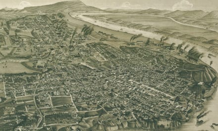 Beautifully restored map of Chattanooga, TN from 1886