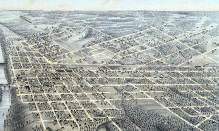 Beautifully detailed map of Dallas, Texas from 1872