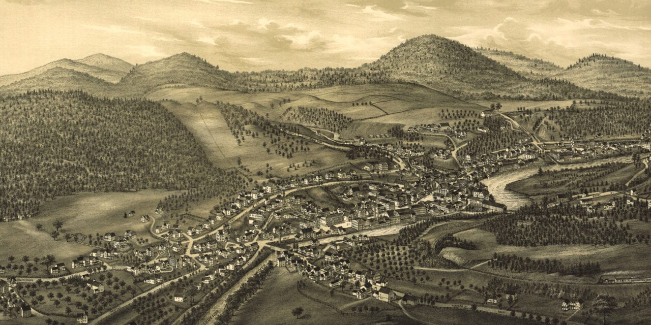 Historic old map of Hinsdale, New Hampshire from 1886
