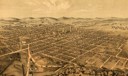 Beautifully restored map of Kalamazoo, Michigan in 1874
