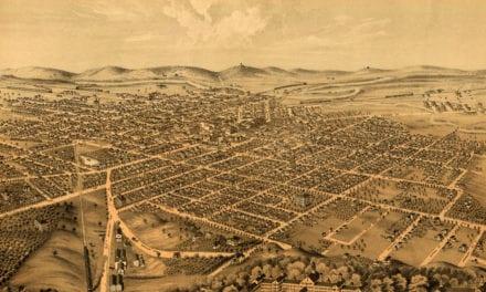 Beautifully restored map of Kalamazoo, Michigan in 1874
