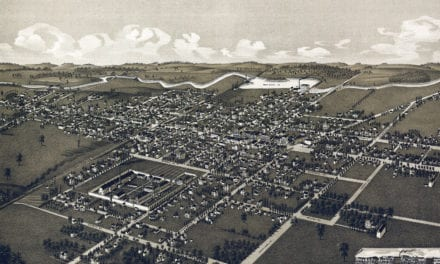 Beautifully restored map of Waupun, Wisconsin in 1885