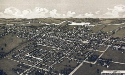 Beautifully restored map of Waupun, Wisconsin in 1885