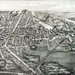 Beautifully restored map of Whitman, MA from 1889