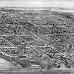 Historic old map of Bristol, Rhode Island from 1891