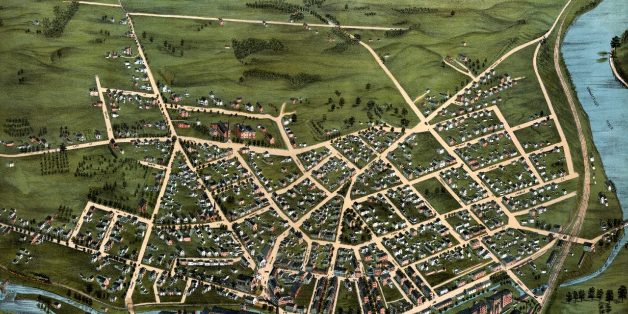 Beautifully detailed map of Chicopee, Massachusetts in 1878