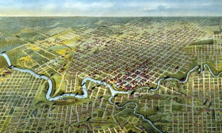 Beautifully detailed map of Houston, Texas from 1891