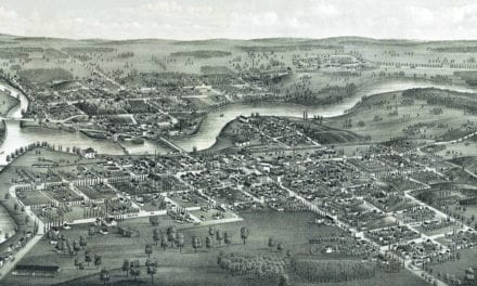 Beautifully restored map of Jefferson, Wisconsin in 1880